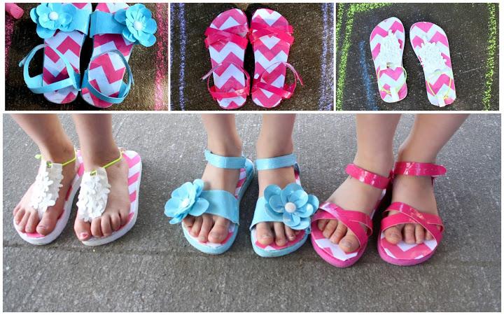 duct tape sandals - heidi