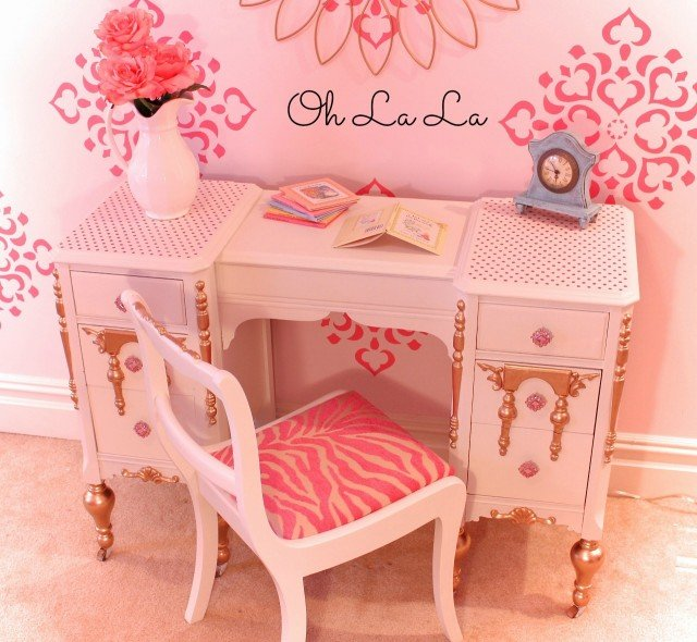 Upcycled Girls Vanity