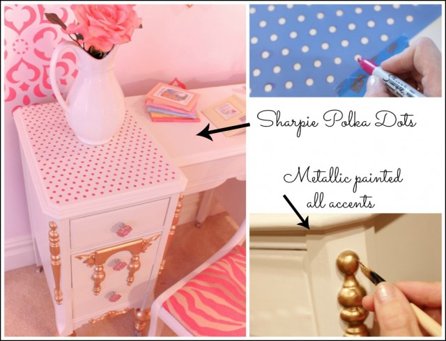 Upcycled Girl's Desk