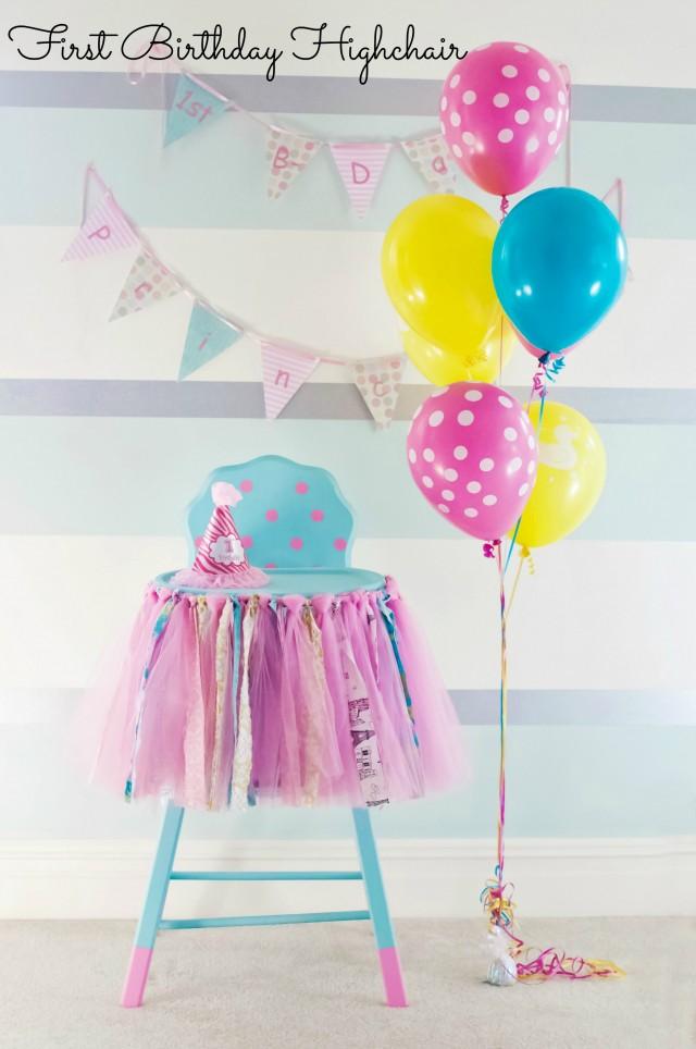 First Birthday Highchair