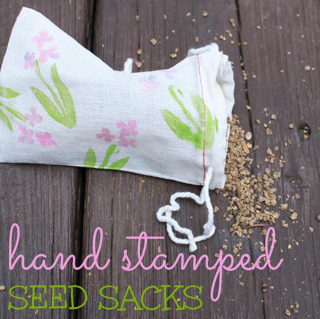 hand stamped seed sacks -jess