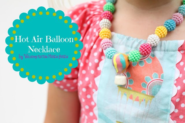 hot air balloon necklace tutorial
