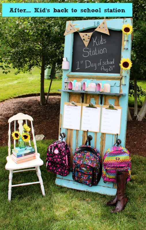 kids back to school station