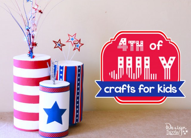 kids-crafts-4th-of-july via Design Dazzle