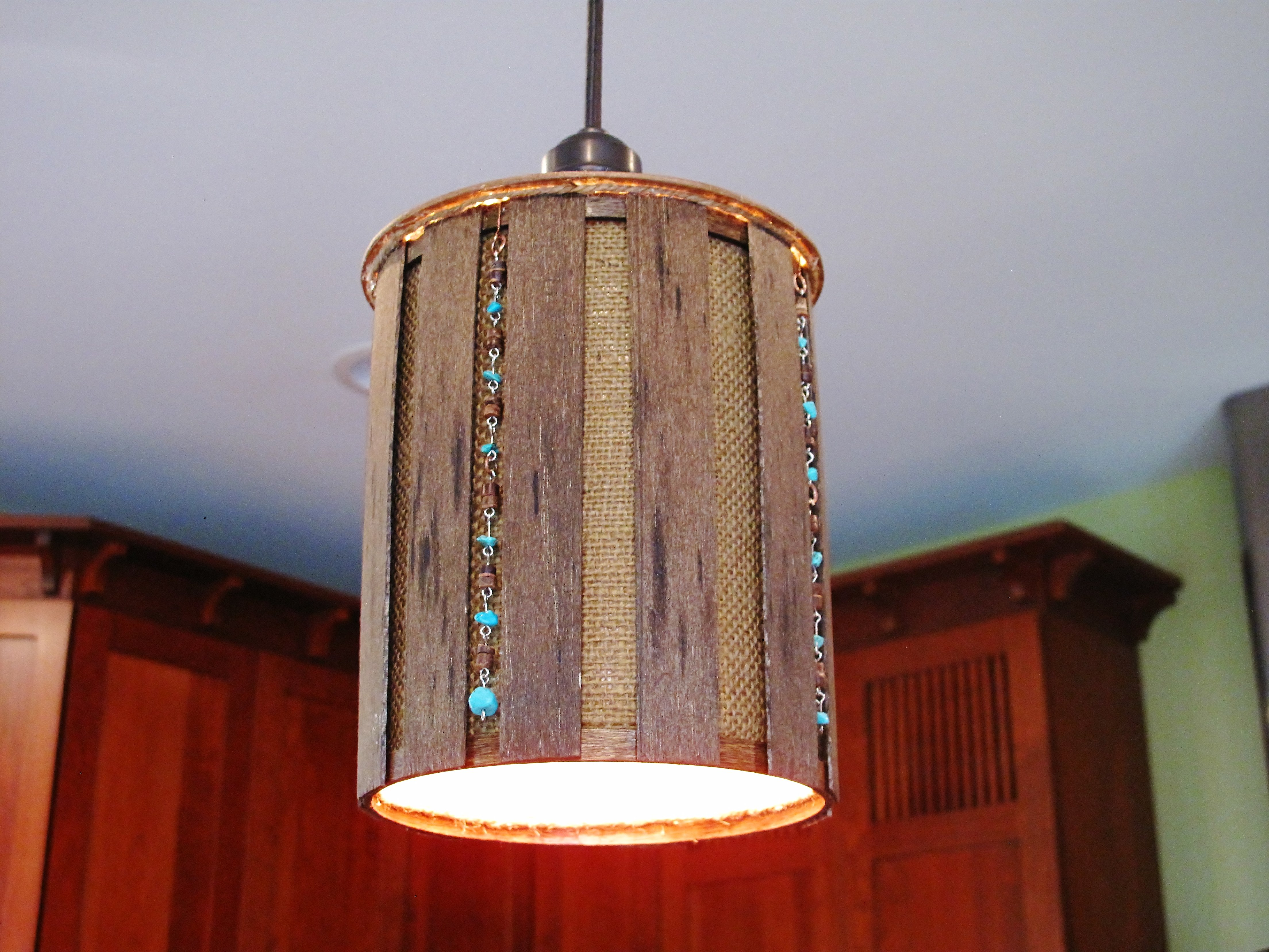 In the kitchen challenge season 17 week 1 so you think you 39 re crafty - Diy pendant light fixture ...