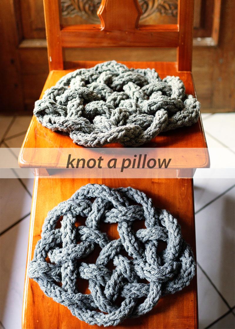 knot a pillow - rebecca