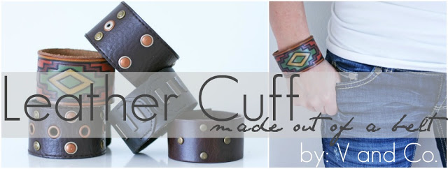 Belt to Leather Cuff via V and Co