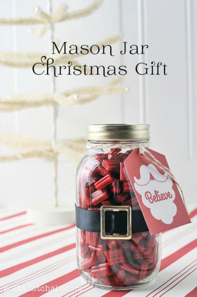 Mason Jar Santa