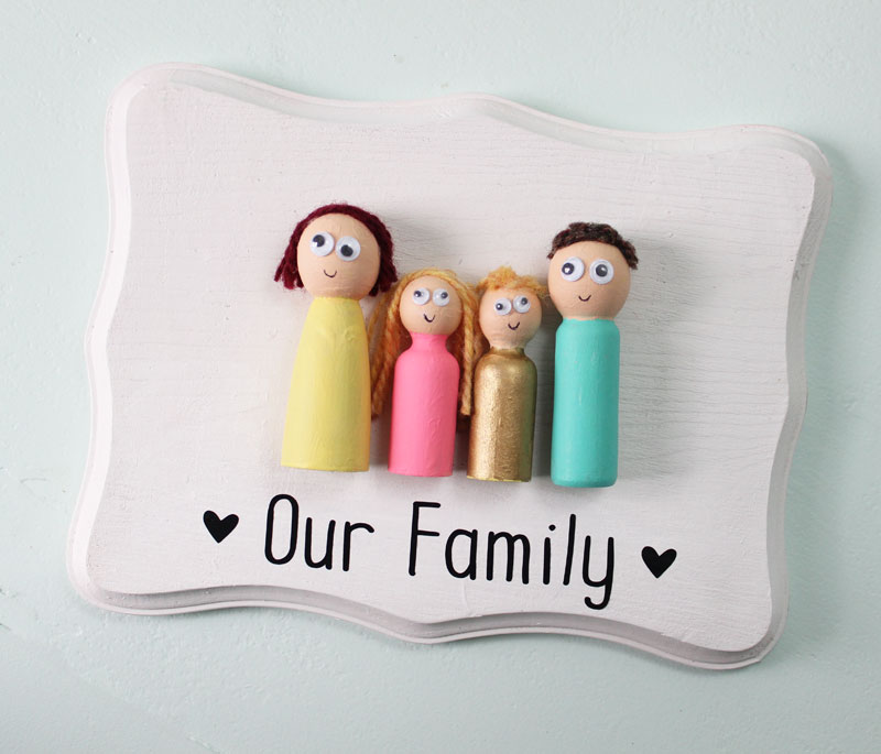 Our Family Peg Doll Craft. I love this! This family of peg dolls is simple enough for little hands and cute enough to be on display in any home.