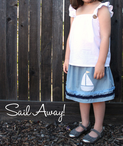Sail Away Summer Ruffle Outfit