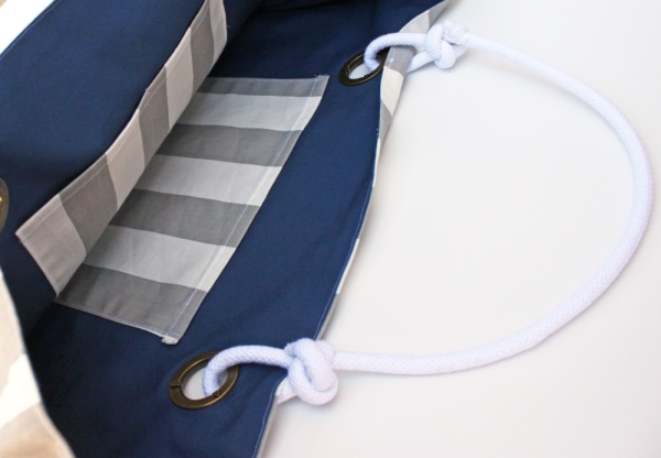 DIY Nautical Bag Tutorial