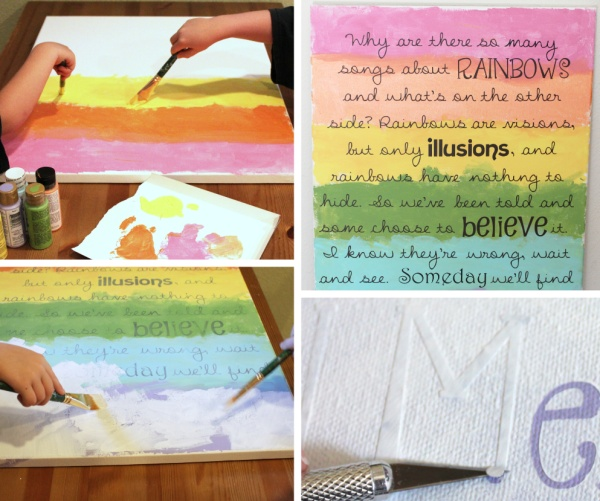DIY Rainbow Nursery Art