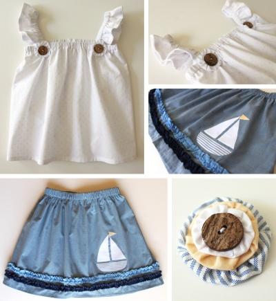 Sail Summer Ruffle Outfit
