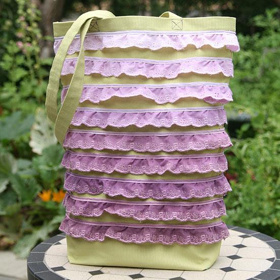 Ombre Ruffle Bag