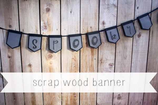 Scrap Wood Halloween Banner