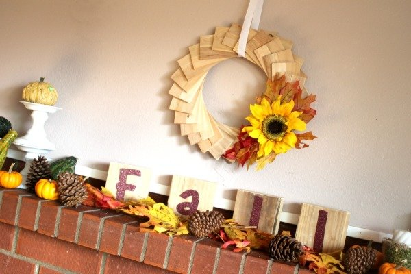Wood Shim Wreath