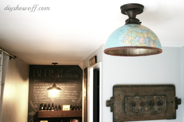 Globe to Light Fixture via DIY Showoff