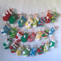 Crocheted Mini Stocking Advent