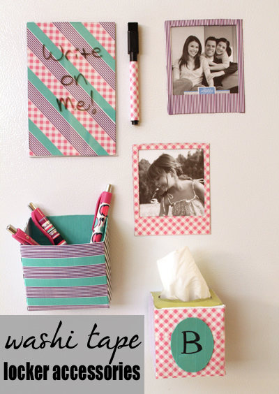 washi tape locker accessories
